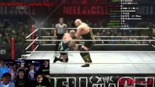 Wirforce Lanparty Taiwan 《WWE 2K14》鳥屎 VS 老皮 (橘大現場轉播)