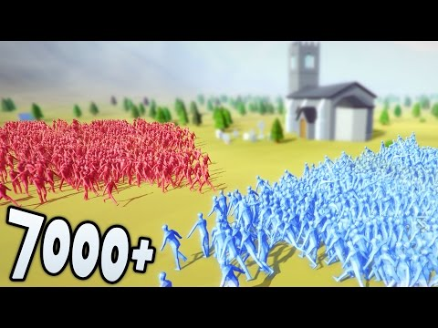7000+ MAN BATTLE! (Totally Accurate Battle Simulator - T.A.B.S)
