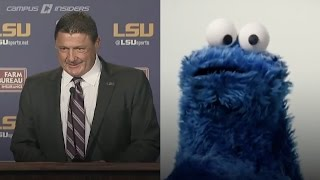 Download Cookie Monster (aka Ed Orgeron) Introduced As LSU Interim Head Coach | CampusInsiders 3Gp Mp4