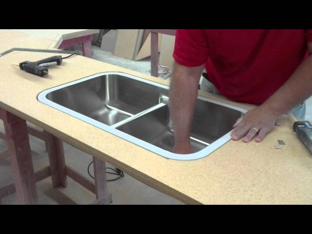 understanding the basics of a laminate countertop with bevel edge and a undermount sink