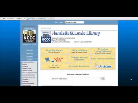 How to Find Full-Text Articles - Niagara County Community College Library