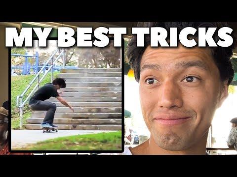 BEST SKATE TRICKS I'VE EVER DONE!!