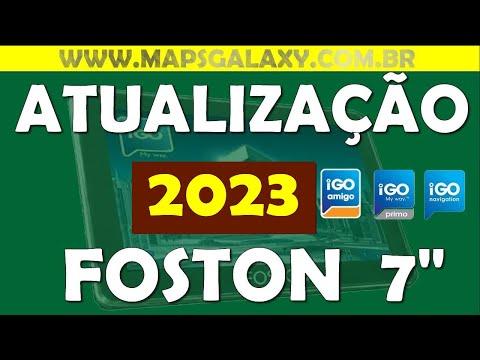 Atualização 2015 GPS FOSTON ndrive FS 3D710DT 7 polegadas