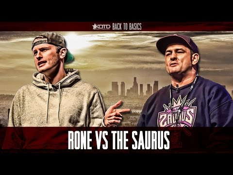 KOTD - Rap Battle - Rone vs The Saurus