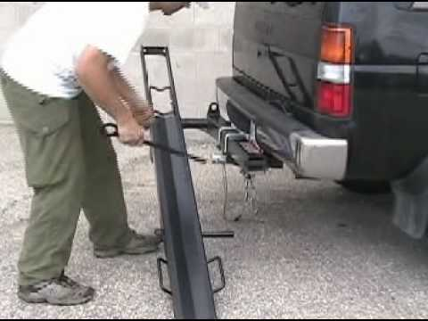 Boss Hitch Mounted Motorcycle Carrier Installation Youtube