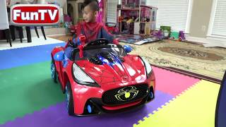Pretend Play POLICE vs SUPERHERO with Ryan's Toy Review inspired- I MAILED MYSELF to Ryan ToysReview