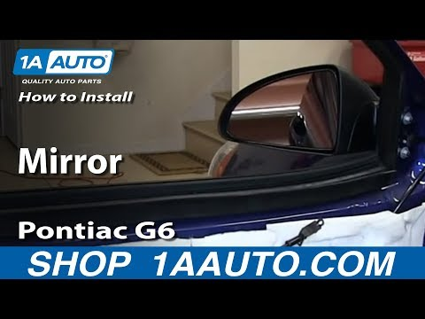 How To Install Replace Broken Side Rear View Mirror 2005-10 Pontiac G6