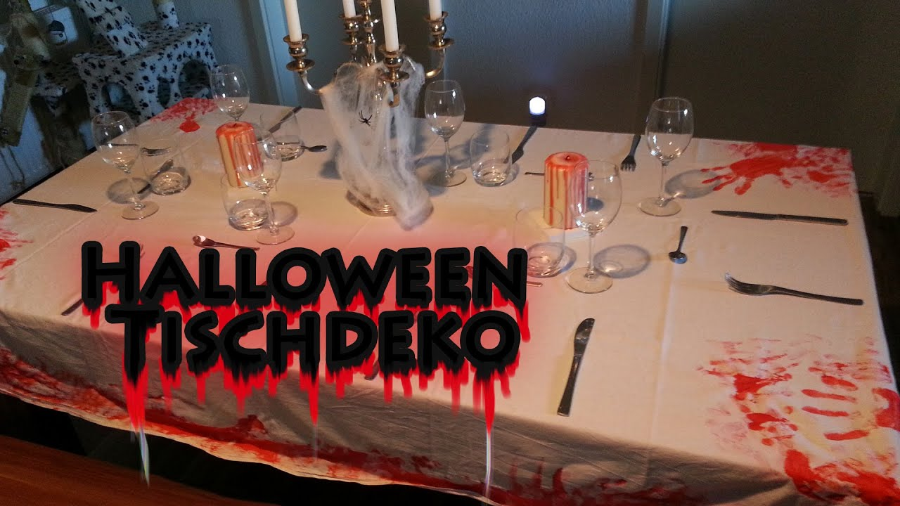 Halloween tischdekoration diy party deko selber machen for Halloween basteln dekoration