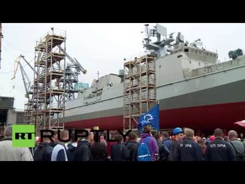 Russia: New Admiral Makarov frigate launched for Black Sea Fleet