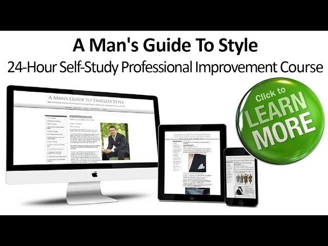 A Man's Guide To Style | Bestselling Self-Study Course