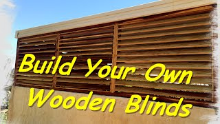 How to make wooden blinds
