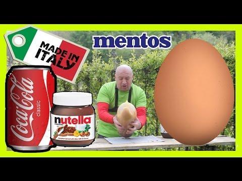 Coca Cola with Egg + Nutella * Durex + Mentos * Italia!