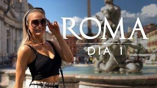 Roma - Fontana di Trevi, Pantheon e Piazza Navona - Vlog de viagem na Italia
