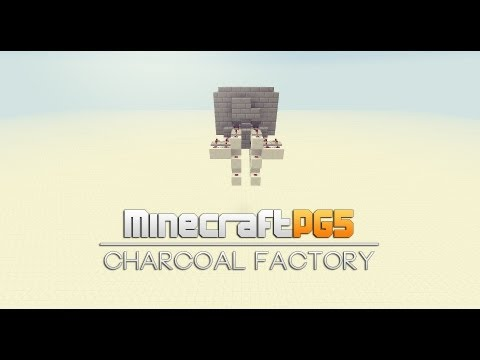 Automatic charcoal factory - auto refill - Minecraft