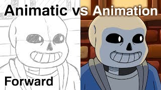 Forward - Animatic/Animation Comparison - UNDERTALE Anime OP