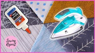 How I Get Perfect Points in Quilt Blocks with Glue Basting   QUICK TIP   SEWING REPORT