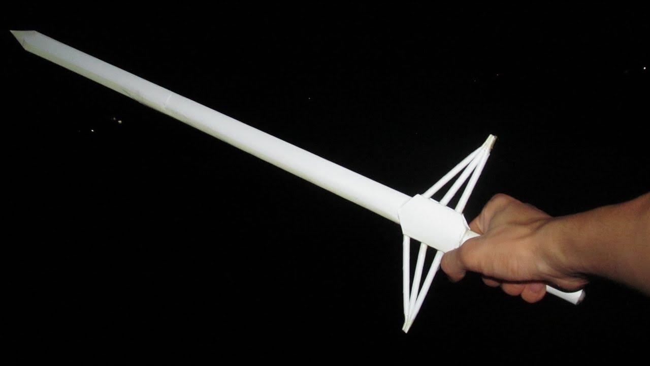 Как сделать из бумаги меч: схемы и видео 55