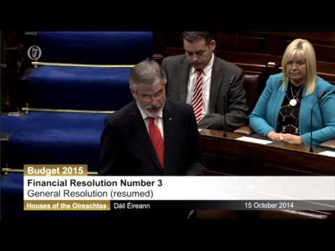Gerry Adams' Budget Response Speech