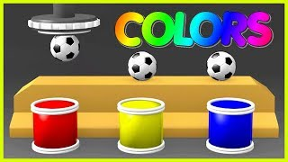 Learn Colors With Soccer Balls for Children - Learn Colors With Balls Surprise Eggs For Toddlers