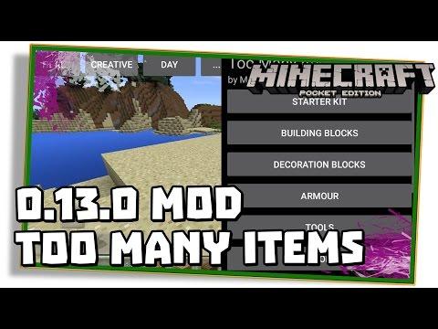 Minecraft PE 0.13.0: TOO MANY ITEMS MOD! - (Pocket Edition   MCPE)