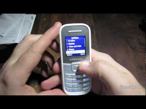 Samsung GT-E1200 keystone 2 unboxing and startup