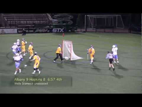 2013 Albany vs Johns Hopkins Complete Game Lacrosse Highlights