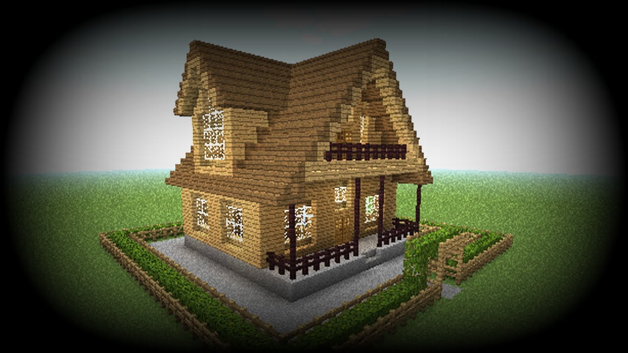 Minecraft how to make a house big easy wooden house - How to make a wooden house ...