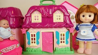Baby doll Surprise egg house and car play