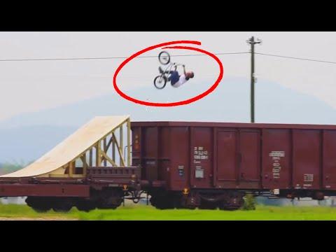 STUNTS ON A TRAIN! | Daredevils