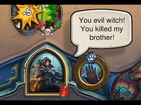 [Hearthstone] 59 Dialogue and INTERACTIONS in | Witchwood Monster Hunt interactions