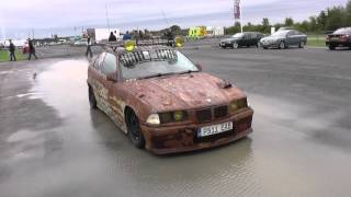 Rat Look BMW 3 Series in Huge Puddle in UK Car Show