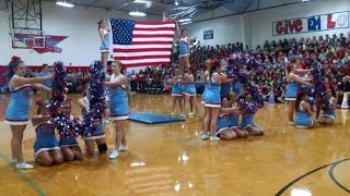 News :: School Cheerleaders' Patriotic 9/11 Tribute Routine Viral || God Bless The U.S.A. 2015 Video