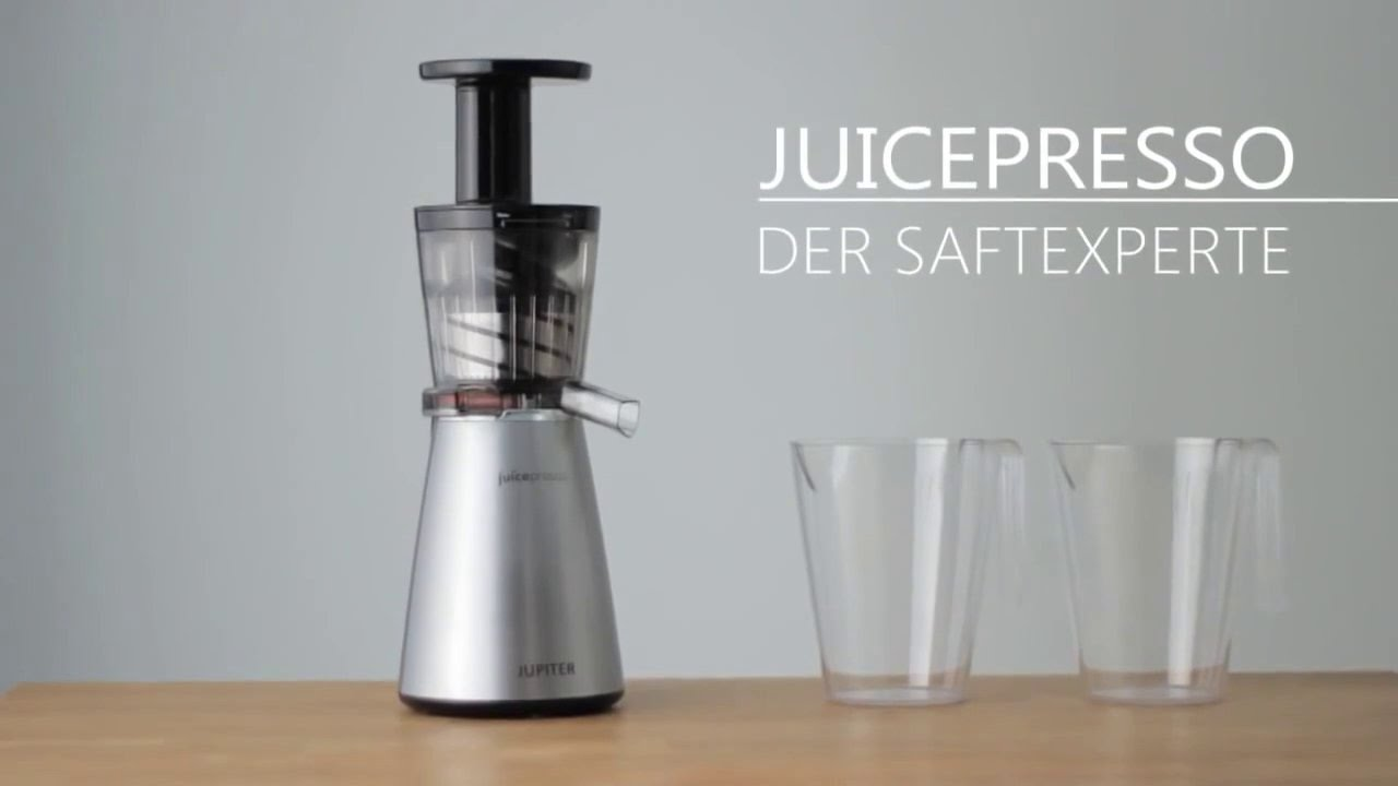 Jupiter Juicepresso 3in1 Slowjuicer Avis : JUPITER Juicepresso 3 in 1 - Neue Technik neues Design - YouTube