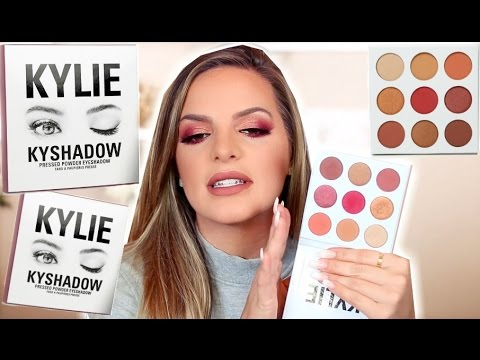 KYLIE COSMETICS Burgundy Palette   First Impression & Review   Casey Holmes