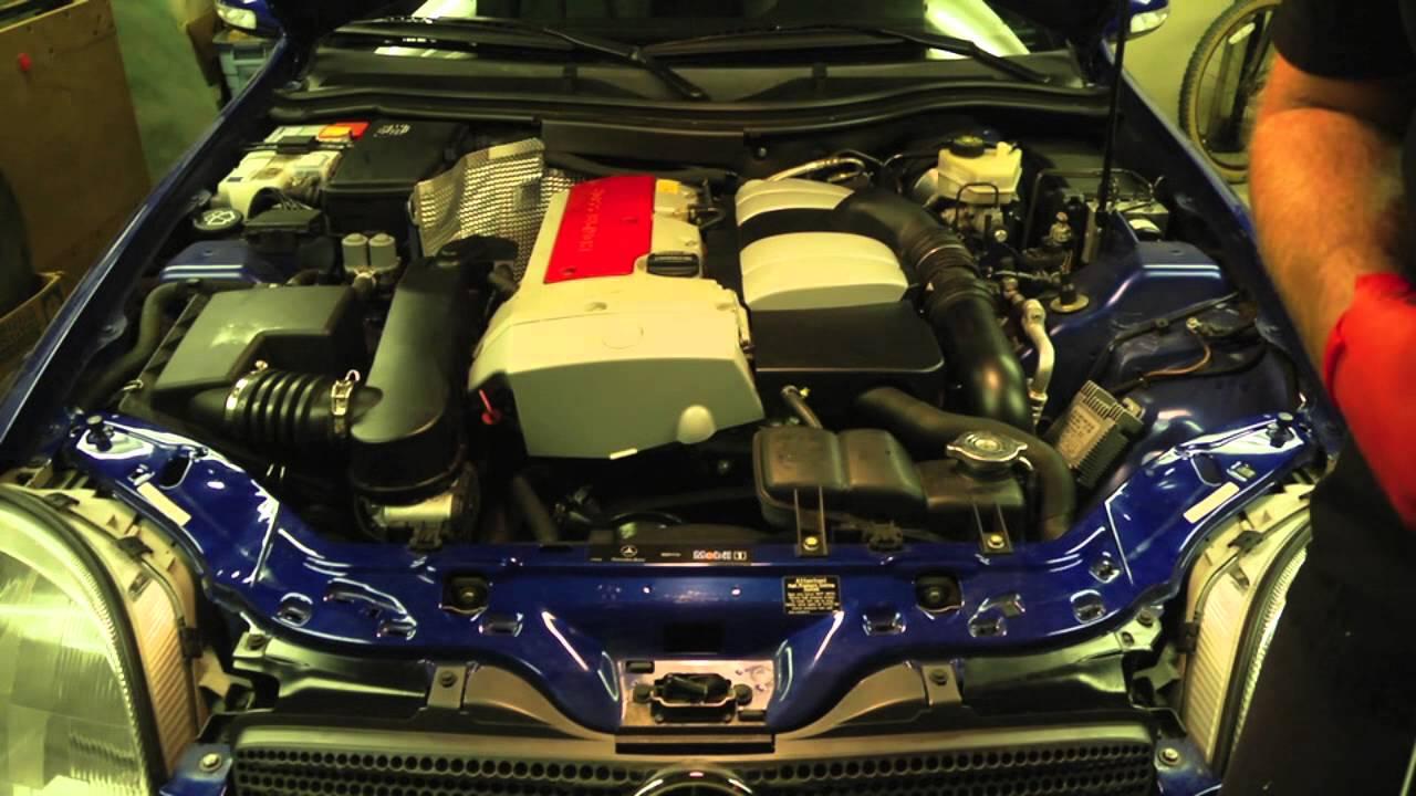 Automatic Transmission Fluid >> Mercedes SLK230 Transmission Fluid Inspection - YouTube