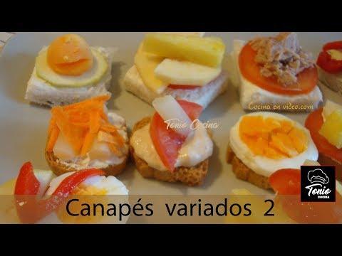 Canapés variados 2, fácil y rápido #170 - Cocina en video.com
