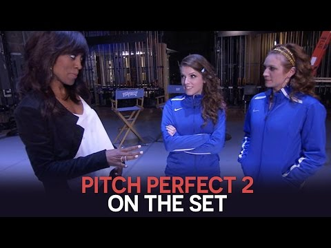 'Pitch Perfect 2': On The Set With Anna Kendrick & Brittany Snow