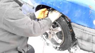 Practice  Fitting Your Snow Chains  in Berkshire