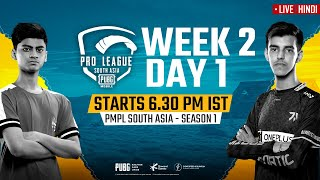 [Hindi] PMPL South Asia Day 1 W 2 | PUBG MOBILE Pro League S1