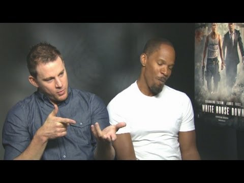 Funny White House Down chat: Channing Tatum & Jamie Foxx enforce twerking & get intimate