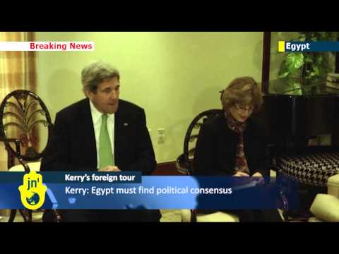 John Kerry diplomatic tour: US Secretary of State meets leaders of Egyptian NGOs in Cairo