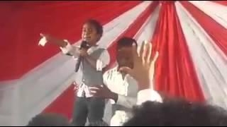 Ethiopian kid preaching