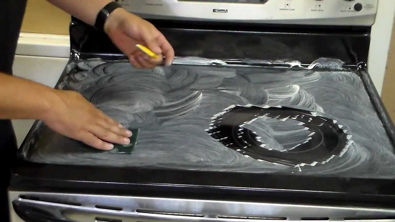 how to clean a glass top stove cooktop youtube. Black Bedroom Furniture Sets. Home Design Ideas