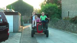 Sophie, Selena And Olivia Have A Ride In Fergie Massey Ferguson FE 35, HD 1080p Upload
