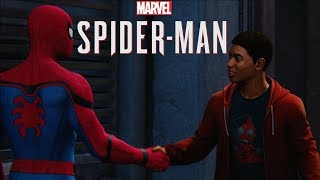 MARVEL'S SPIDER-MAN - Peter Saves Miles Morales & Teach Him to Fight | PS4 Gameplay