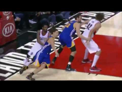 Klay Thompson hits go-ahead jumper: Golden State Warriors over Portland Trail Blazers