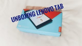 Unboxing lenovo tab