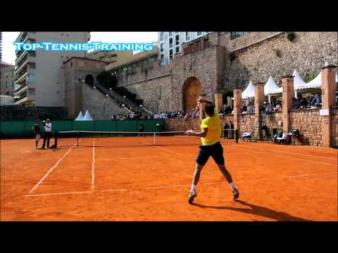 Stan Wawrinka Training 2014-COURT LEVEL VIEW