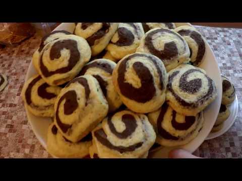 Печенье улитки.  Печенье зебра на кефире. Печенье ракушки