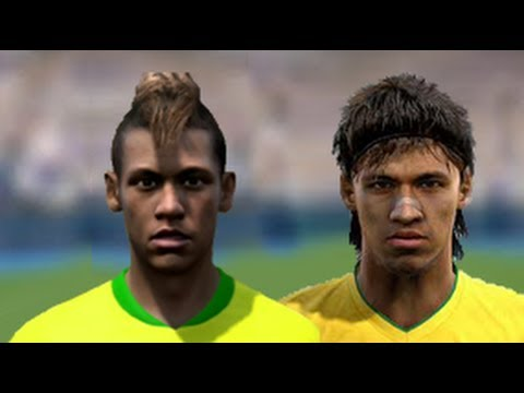 FIFA 13 v PES 13 Faces Head to Head [HD] part 1
